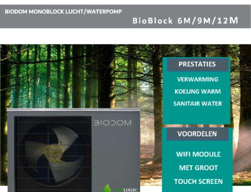 Nieuw!!! de warmtepomp van BIODOM-BioBlock